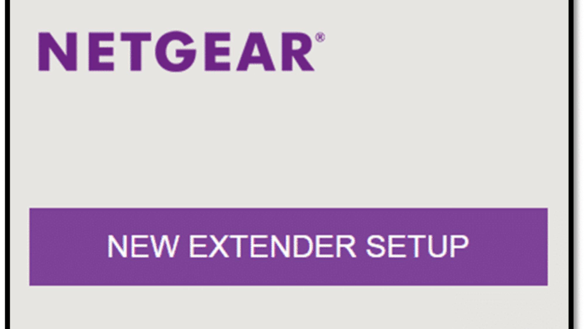 new extender setup