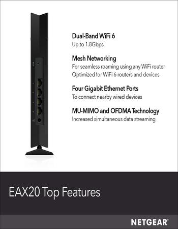 Netgear EAX20 Mesh Range Extender