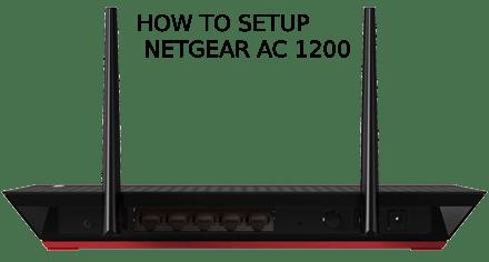 Netgear AC1200 Wifi Range Extender Setup